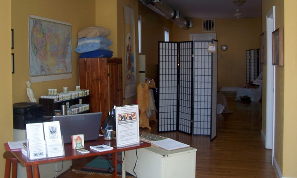 front desk at Louisville Community Acupuncture